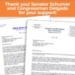 image of letterhead from senator Schumer