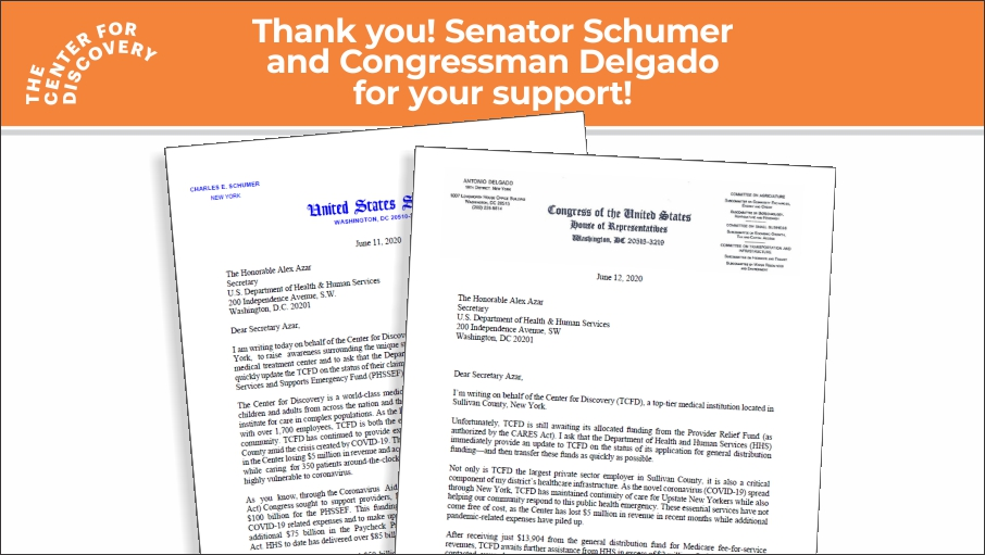 image of letterhead from senator Schumer