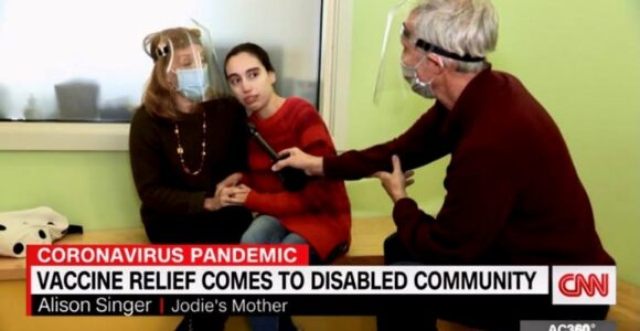 Jodie and Alison with CNN