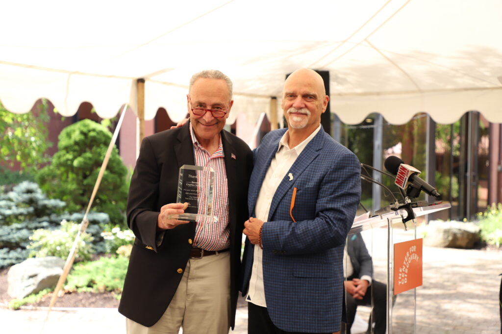 Senator Charles Schumer and TCFD CEO, Patrick H. Dollard, break ground on Children's Specialty Hospital